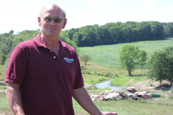 Jeff Preder, owner of Jeff-Leen Farm, Random Lake, Wis.